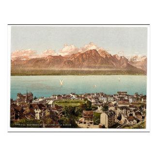 Montreux, Savoy Mountains, Geneva Lake, Switzerlan Postcard