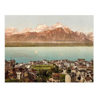 Montreux, Savoy Mountains, Geneva Lake, Switzerlan Post Cards