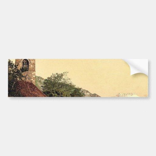 Montreux, the church and Dent du Midi, Geneva Lake Car Bumper Sticker