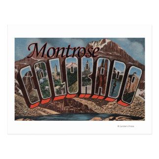 Montrose, Colorado - escenas grandes de la letra Tarjeta Postal