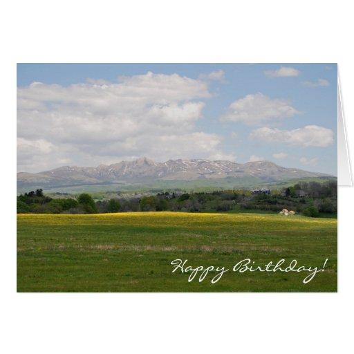 Monts Dore, Auvergne, birthday card