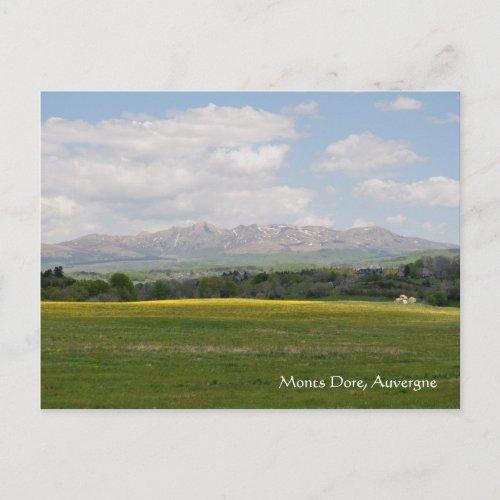 Monts Dore, Auvergne postcard