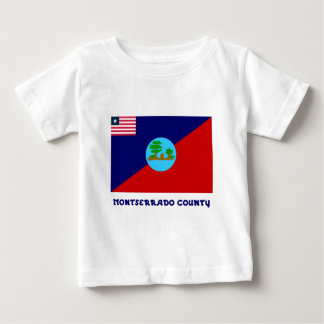 Montserrado County Flag with Name Infant T-shirt