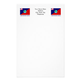 Montserrado County Flag with Name Personalized Stationery