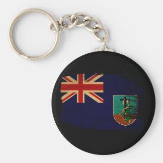 Montserrat Flag Basic Round Button Keychain