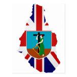 Montserrat flag map postcard