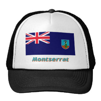 Montserrat Flag with Name Hats