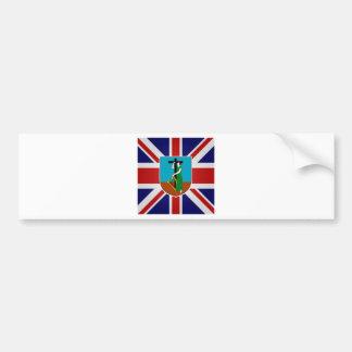 Montserrat High quality Flag Car Bumper Sticker