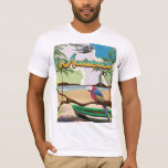 Montserrat island retro travel poster T-Shirt