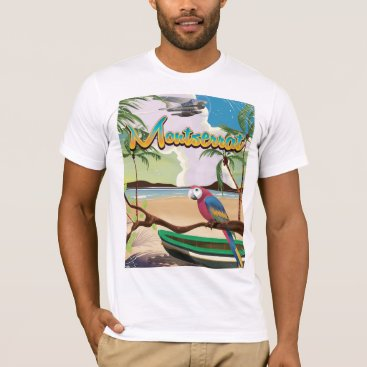 bartonleclaydesign Montserrat island retro travel poster T-Shirt