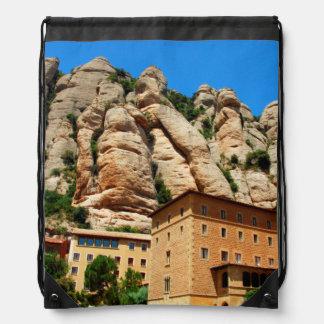 Montserrat Monastery, Catalonia, Spain Cinch Bags