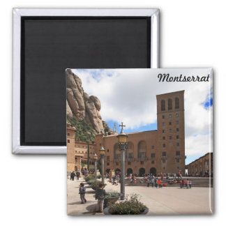 Montserrat monastery magnet
