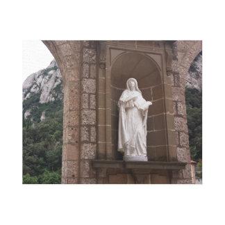 Montserrat Mother Statue Canvas Print