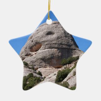 montserrat mountains ceramic ornament