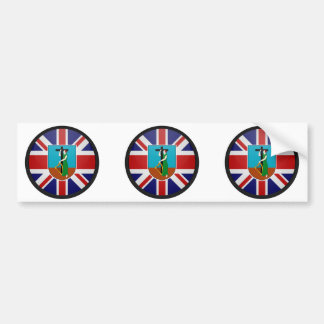 Montserrat quality Flag Circle Car Bumper Sticker