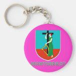 Montserratian Emblem Key Chains