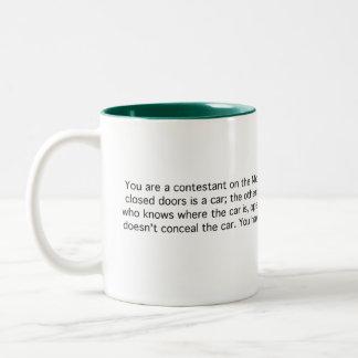 Monty Hall Two-Tone Coffee Mug