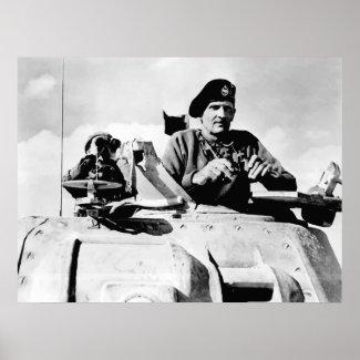 Monty In A Tank print
