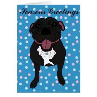 Monty the Staffordshire bull terrier Greeting Card