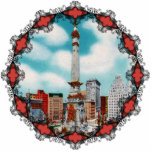Monument Circle Ornament Acrylic Cut Out