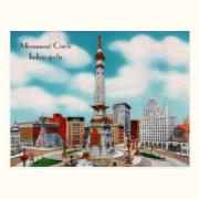 Monument Circle Postcard