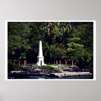 Monument de capitán Cook's - Hawaii Póster