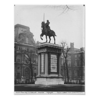 Monument dedicated to General Lafayette Poster