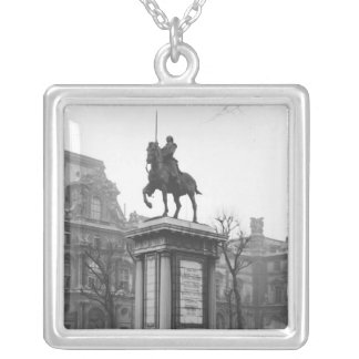 Monument dedicated to General Lafayette Silver Plated Necklace