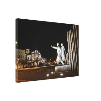 Monument in Ponta Delgada Azores Canvas Print