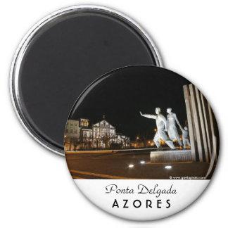 Monument in Ponta Delgada Azores 2 Inch Round Magnet