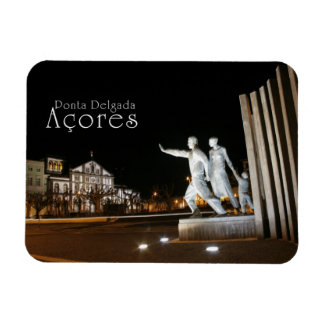Monument in Ponta Delgada Azores Rectangular Photo Magnet