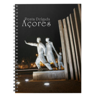 Monument in Ponta Delgada Azores Spiral Notebook