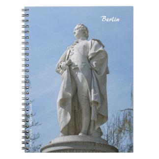 Monument of Johann Wolfgang von Goethe in Berlin Notebook