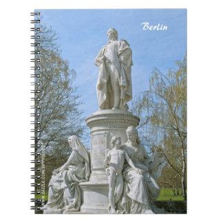 Monument of Johann Wolfgang von Goethe in Berlin Spiral Notebook