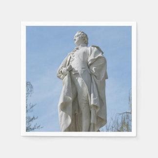 Monument of Johann Wolfgang von Goethe in Berlin Paper Napkin