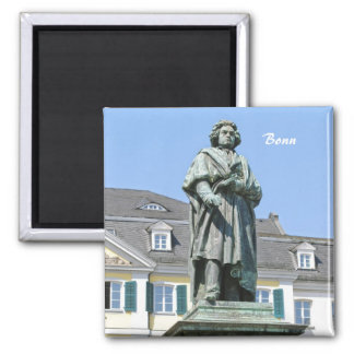 Monument of Ludwig van Beethoven in Bonn 2 Inch Square Magnet