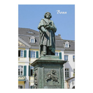 Monument of Ludwig van Beethoven in Bonn Poster