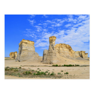 Monument Rocks in Kansas Postcard
