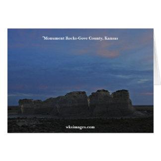 Monument Rocks National Landmark Card 06022007