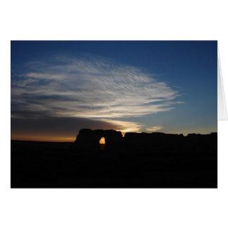 """Monument Rocks Sundown"" Greeting Cards"