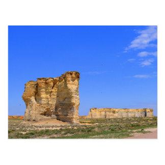 Monument Rocks, Western Kansas Postcard