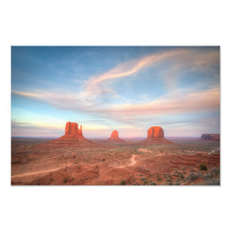 Monument Sunset Sunset Photo Print