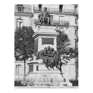 Monument to Alexandre Dumas Pere, 1883 Postcard