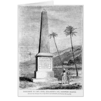 Monument to Captain James Cook Card