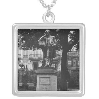 Monument to Hector Berlioz Silver Plated Necklace