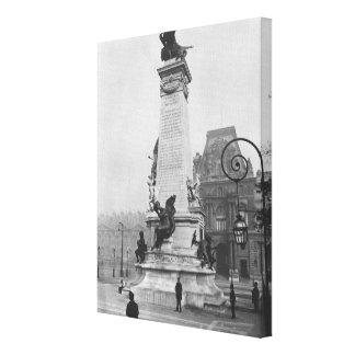 Monument to Leon Gambetta Canvas Print