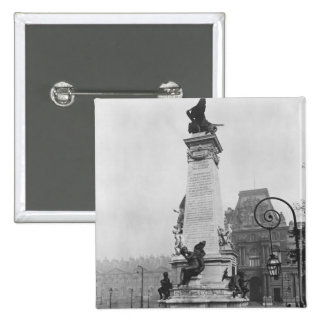 Monument to Leon Gambetta Pinback Button