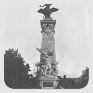 Monument to Leon Gambetta Square Sticker