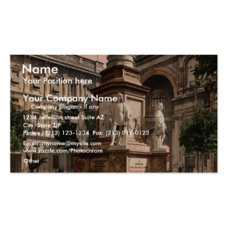 Monument to Leonardo di Vinci, Milan, Italy vintag Double-Sided Standard Business Cards (Pack Of 100)