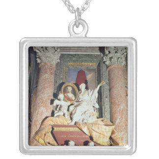 Monument to Maria Clementina Sobieska  1739 Silver Plated Necklace